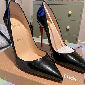 Christian Louboutin So Kate Black Patent 120 mm